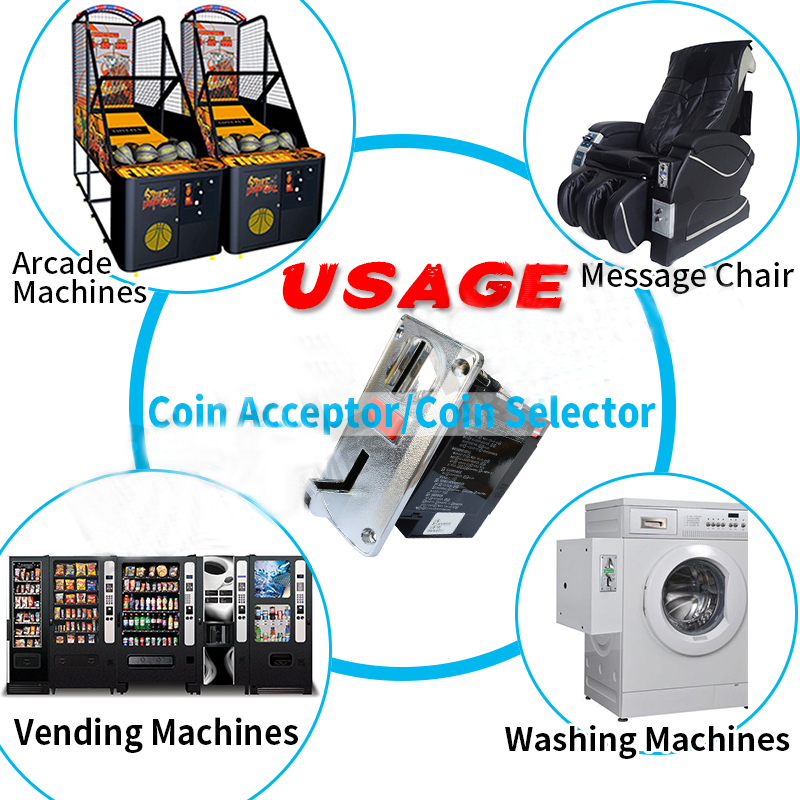 CPU coin selector factory direct wholesale SG SR DG600F 616 different kinds electronic multi coin acceptor