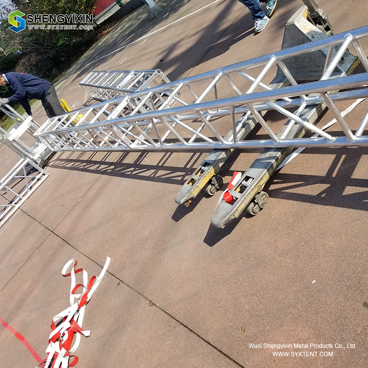 Full Customized Size Outdoor Concert Stage Roof Truss Design For Hanging Led Screen For Sale