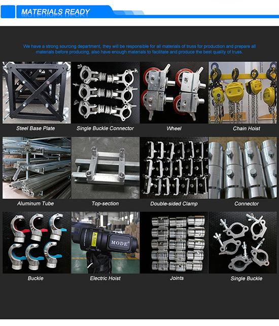 Factory price on sale aluminum lighting truss aluminum stage truss