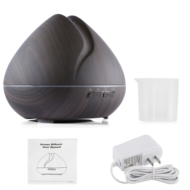 500ml peach shape design essential oils diffuser cool mist maker decorative ultrasonic humidifier