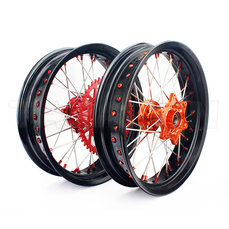 17 inch Custom Motorcycle Wheels Supermoto Wheels