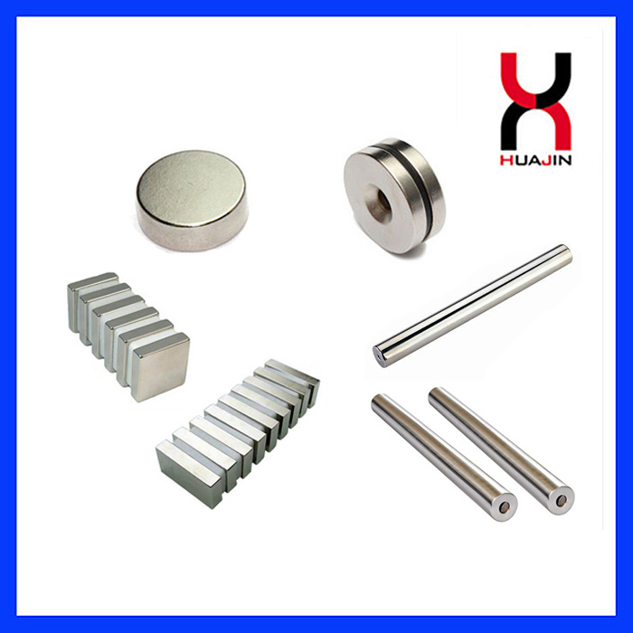 Permanent Sintered Rare Earth Neodymium Magnetic Material Strong DiscBlockCylinderCountersunkArc NdFeB Magnet RodRi