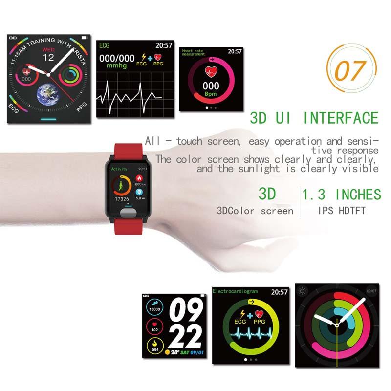 TOP Waterproof Smart Bracelet Watch Accurate Heart rate Blood Pressure Monitor For Healthy Life