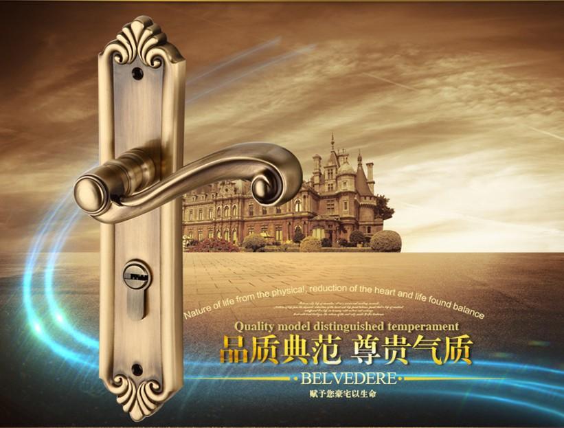 Solid brass Mortise door handle lock E2826