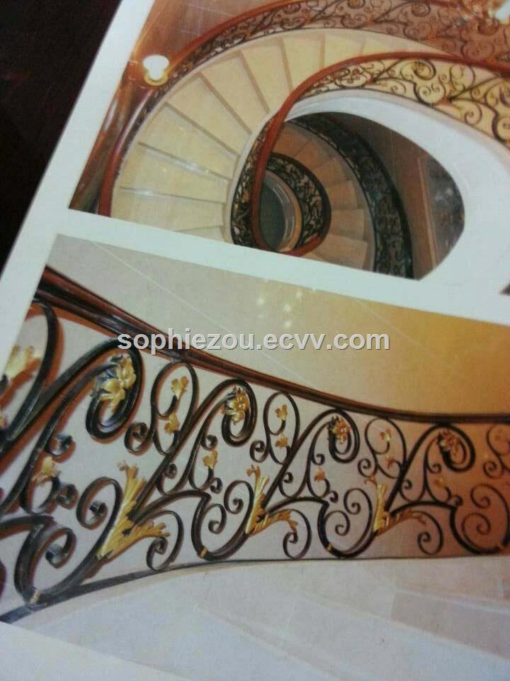 China High Quality Wrought Iron Staircases Good Price Wrought Iron Handrail Factory Steel Stair OEM ODM Stair