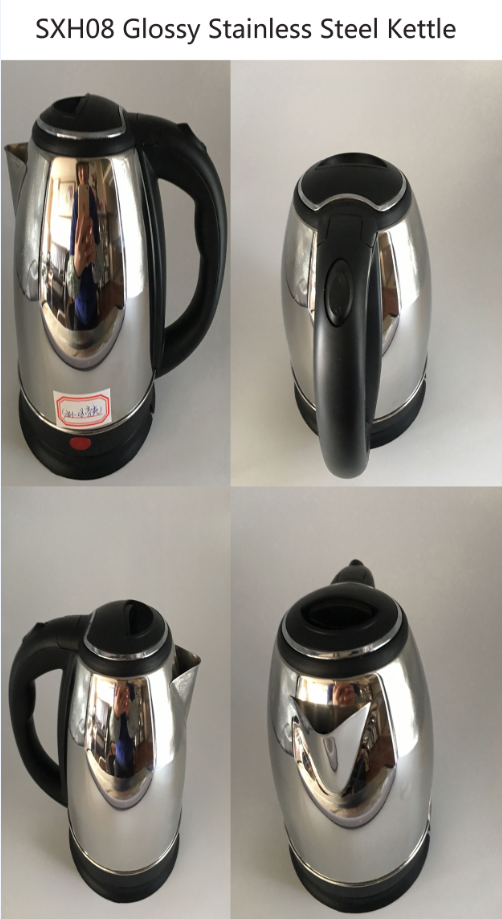 SXH08 High Quality Glossy Stainless steel Electronic Kettle 18L