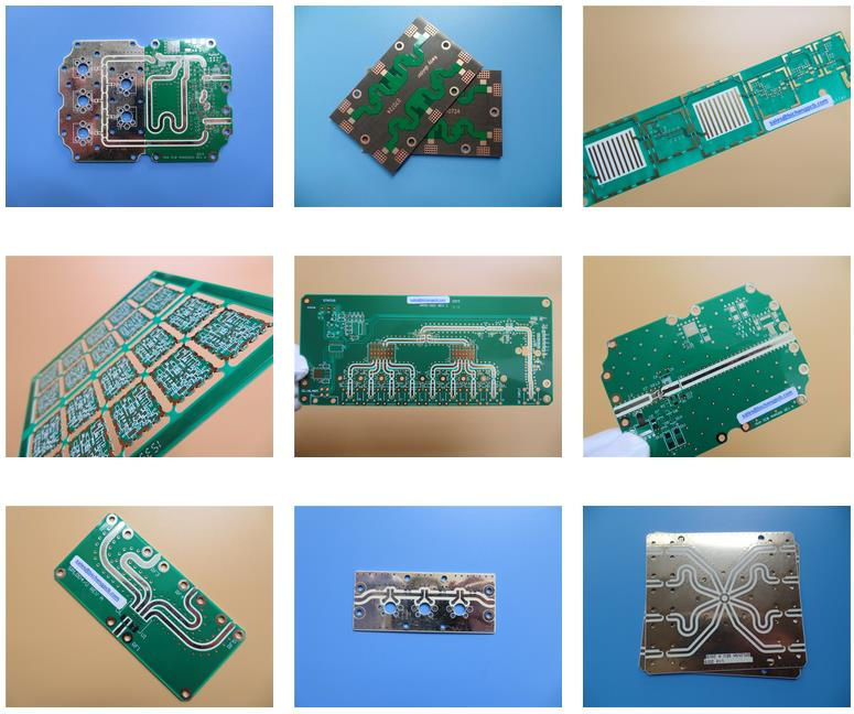 10 Layer High Frequency PCB on RO4350B Core and RO4450B PP