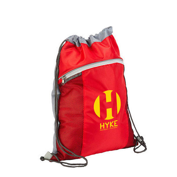 Drawstring Backpack with 190T Polyester Cotton or 80g Non Woven Material light weightCustom logo printed