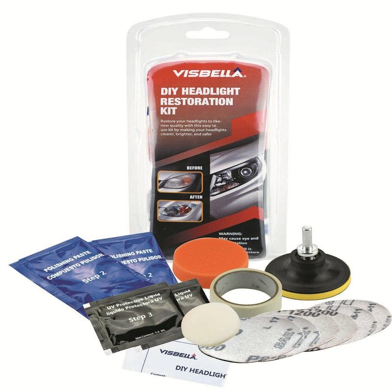 Visbella DIY headlight headlamp restoration kit car care