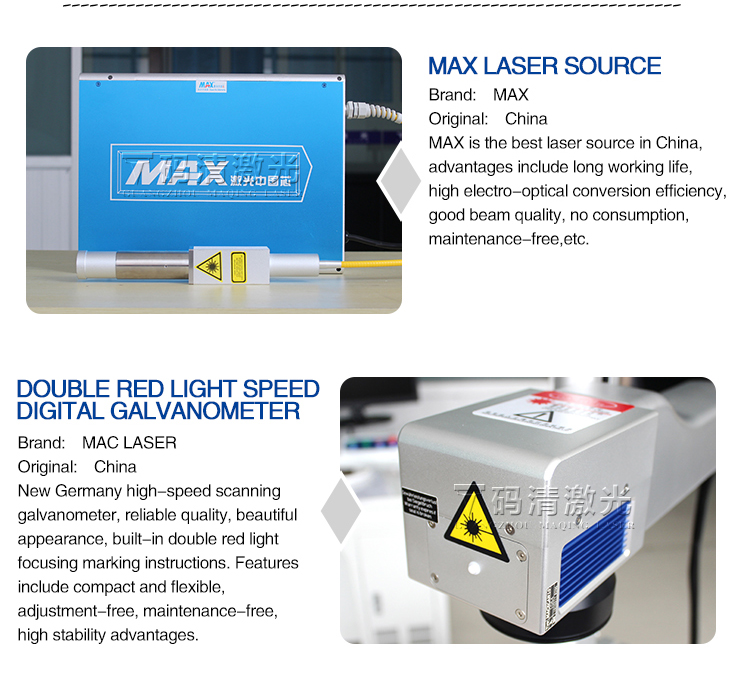 Mini fiber laser markingengraving machine for metal