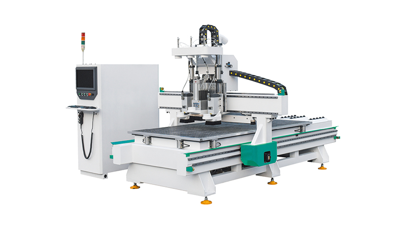 2Spindle Drilling System Wood Engraving CNC Router Machine for WoodMDF Doors