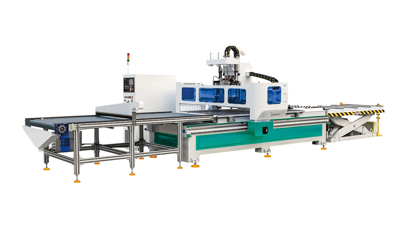 3 Axis Woodworking CNC Router and Engraver Machine Center with Automatic Loading and Unloading System