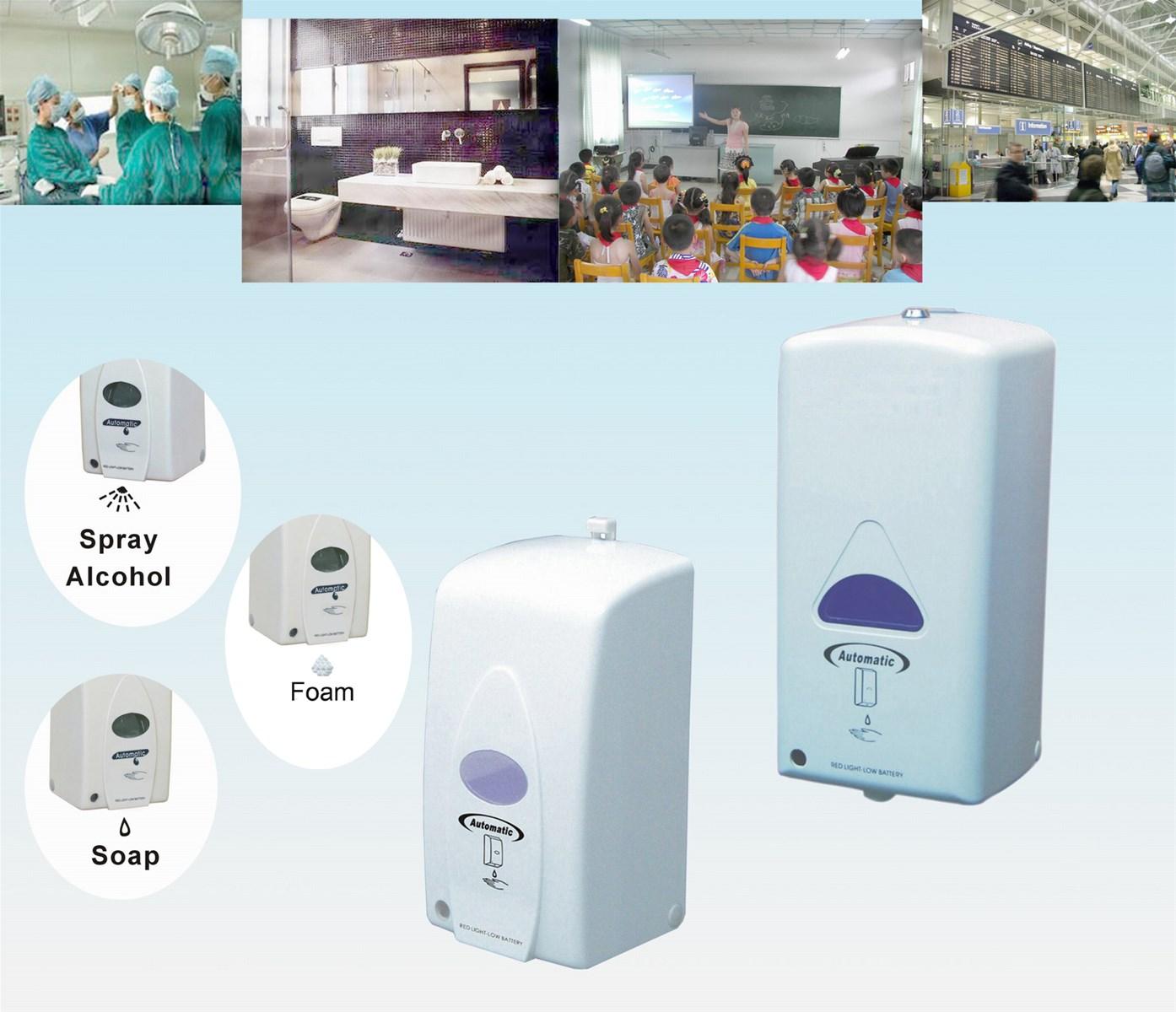 Automatic Foam Soap Dispenser Foaming Sanitizer Dispenser with refillable bottle and disposable bag