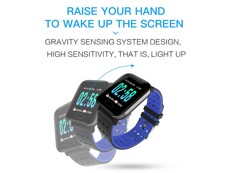 Big Display Fashion Sport Smart Bracelet Watch Sedentariness Reminding Wristband Tracker