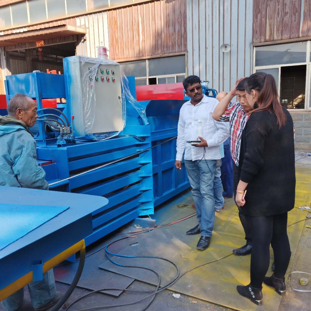 hydraulic cardboard waste pet recycling plastic jewel tobacco leaf press autefa cotton baling baler machine