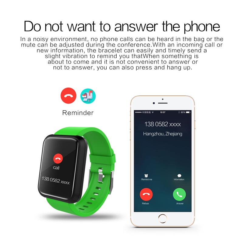 Fitness Tracker Sport Bracelet Watch Waterproof Bracelet Watch 13 IPS HD Color Screen