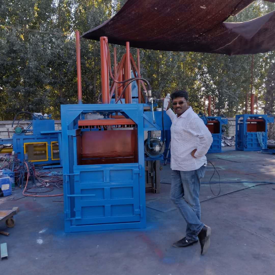 Hydraulic waste paper balerplastic baling press machinewaste plastic hydraulic press baler machine