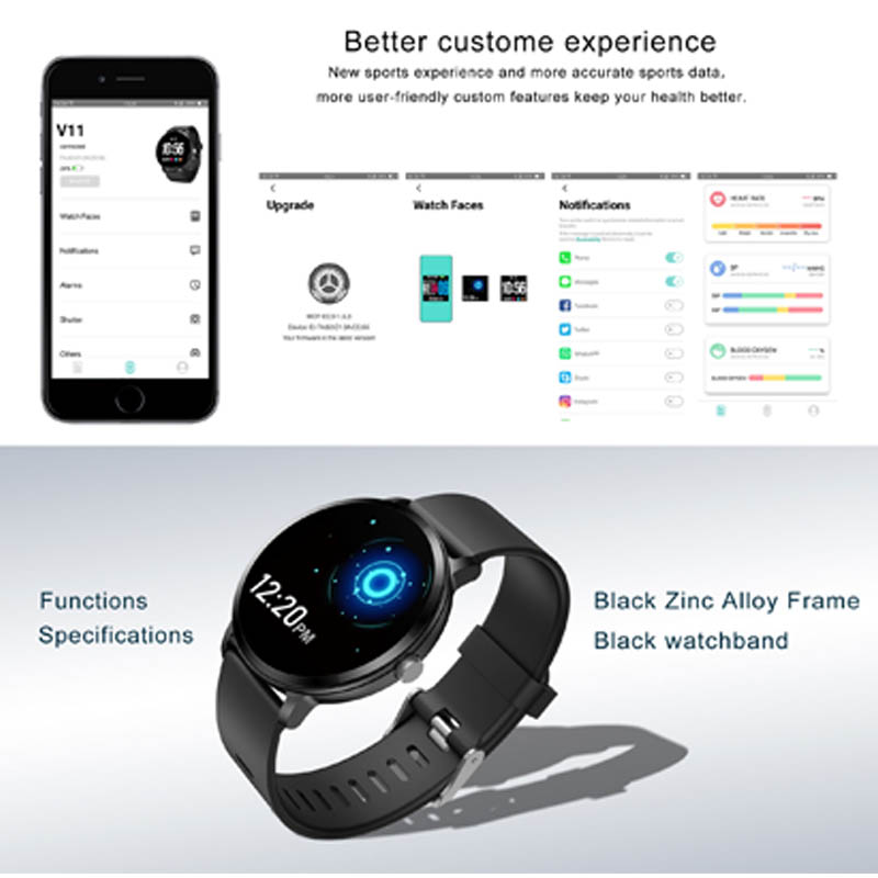 Round Screen Silicone Sport Watches Accurate Heart Rate Detection CNC Crafts