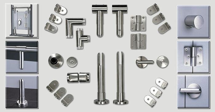 Sturdy Durable Toilet Cubicle Hardware 304 Stainless Steel Toilet Door Handles Knob
