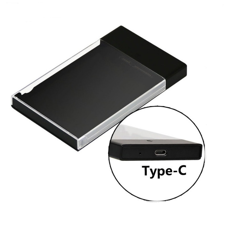 transparent 25 hard drive case USB 31 Type C to SATA 30 HDD Case Tool Free UASP Hard Drive Enclosure HDD case