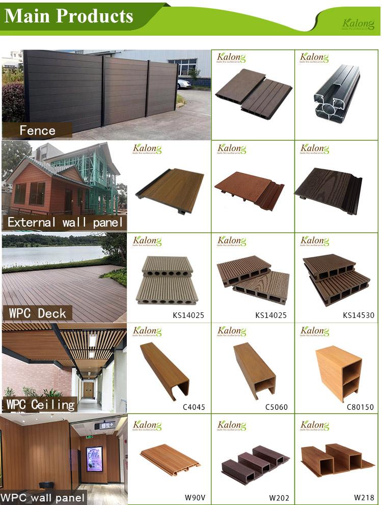 Antislip anticrack water resistant outdoor WPC veranda decking floor