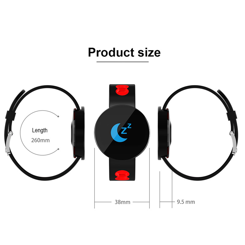 Ultra Thin Sport Bracelet Watch Long Standby Time Step Tracking Contract Color Design