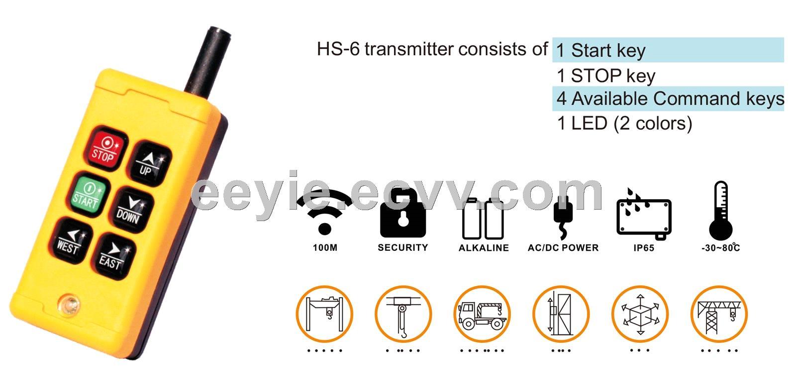 crane wireless remote control switch crane transmitter