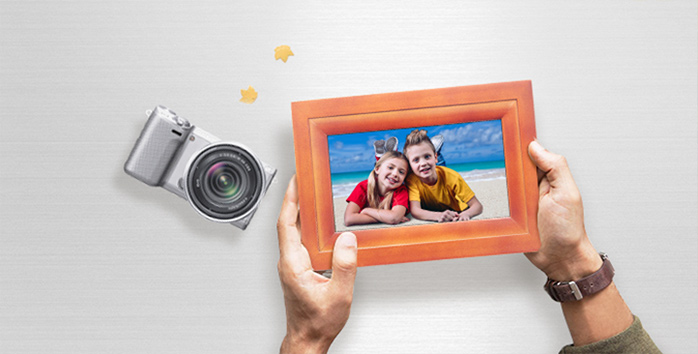 HDgenius 7 inch WiFi picture frame HD IPS Panel touchscreen iOS Android APP Real Wood Digital Frame
