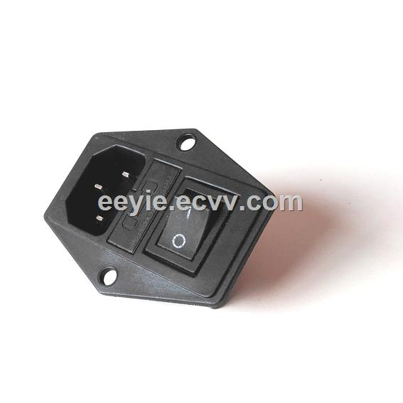 nylon material AC Power Socket with fuse box