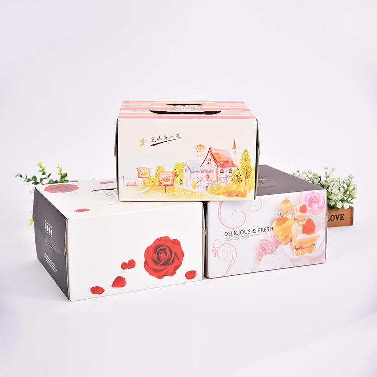 Custom PET transparent cake gift packaging box