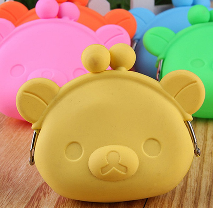 New style Colorful waterproof silicone coin purse printed small wallets bags