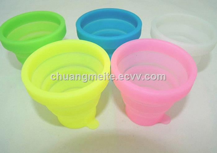 Ecofriendly universal traveling convenient fold flexible portable silicone cup