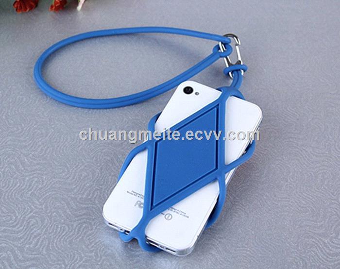 Fashion Ecofriendly universal silicone lanyard phone case accessories