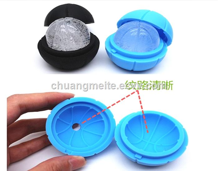 Ecofriendly bar hotel promotional round shaped interstellar silicone ice ball ice tray