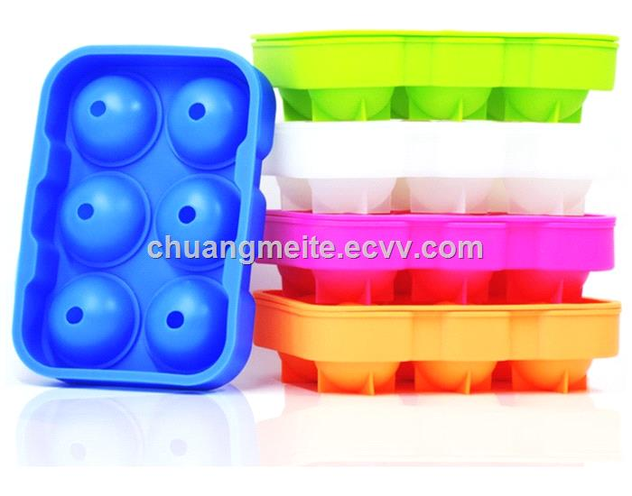 Food grade new type 61 square silicone ice tray mould