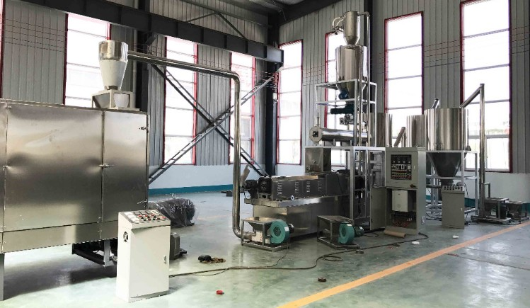 2019 hot sales fully automatic pet food extruder machine plant equipment production line