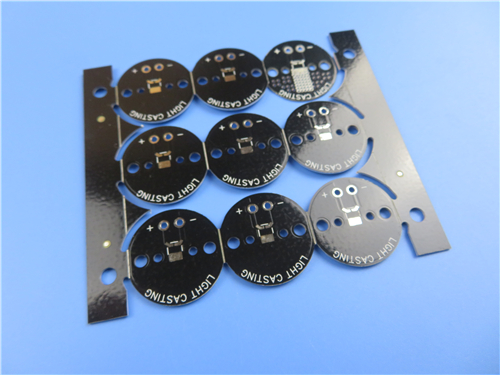 Aluminum PCB Double Sided 06mm Thick Plated Trhough Hole PTH