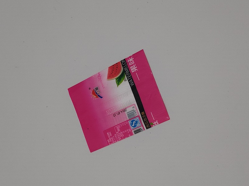 Shrinking label shrinking label packing film
