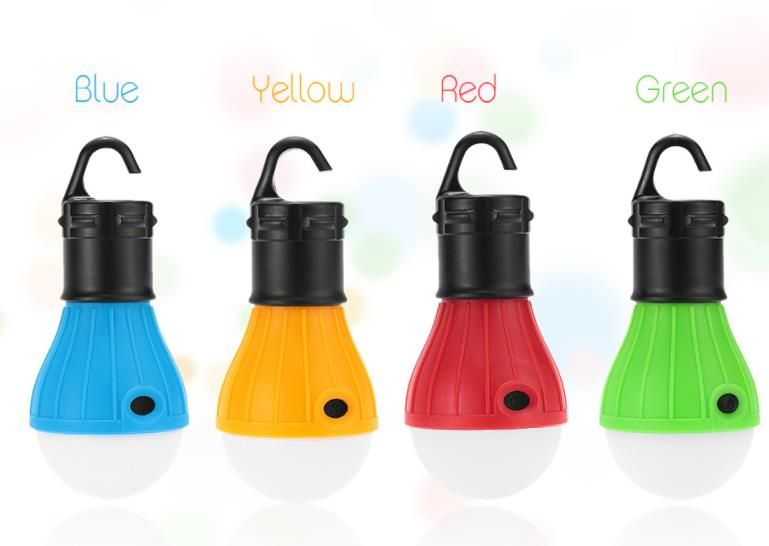 this camping lamp is powered by 3 sections of AAA battery and fills your tent with soft diffuse light with 3 energy sav
