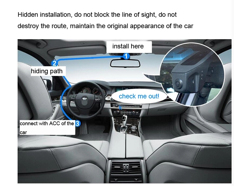 Hidden Car Dvr With WiFi Dual Core Processor Wholesale Hidden Camera Car
