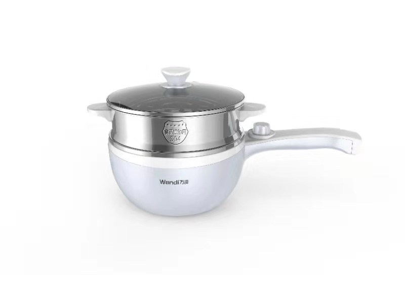 WD8615 Doublelayer Stainless Steel Noodle Pot with Double adjusting button