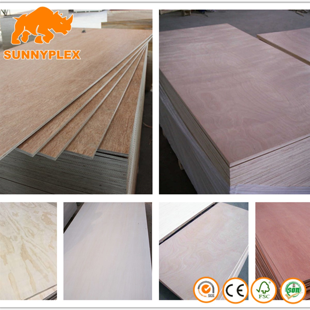 commercial Okoume face poplar core plywood for furniturepacking