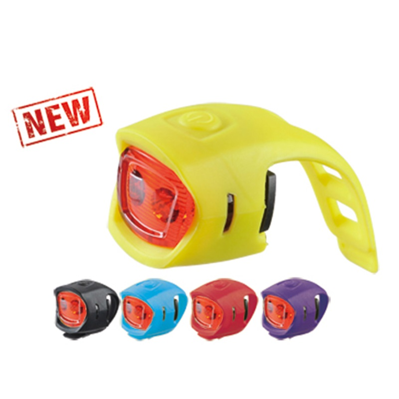 Silicon 2 Red LED Bicycle Light fit on seatpost HLT043