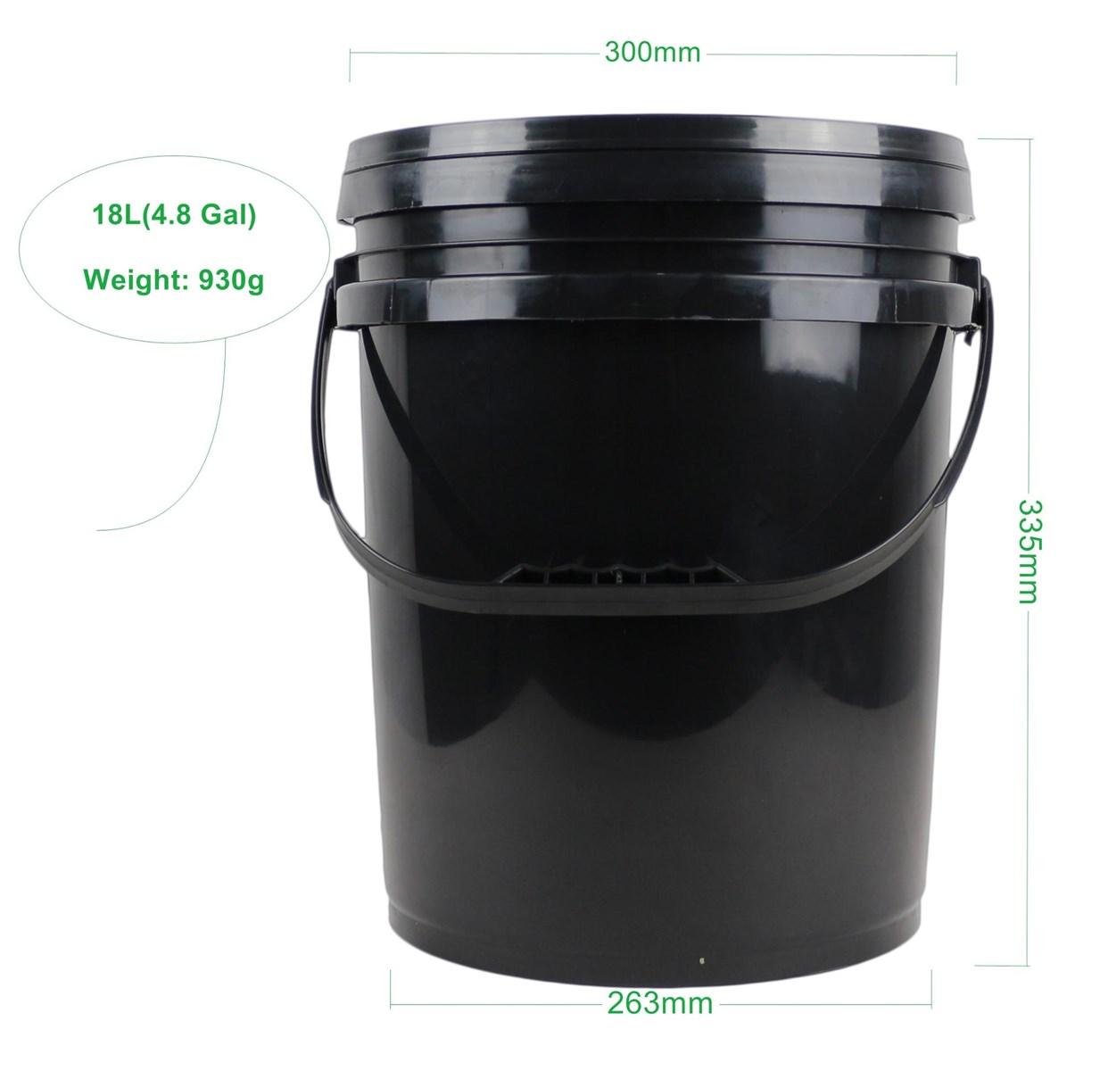 Custom Logo and Color 18L Black Oil Empty Plastic Drum