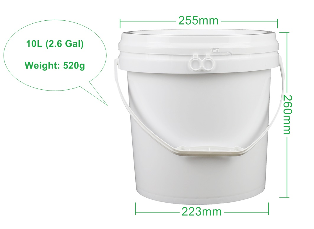 Water Round 10L Plastic Bucket for Food Packaging