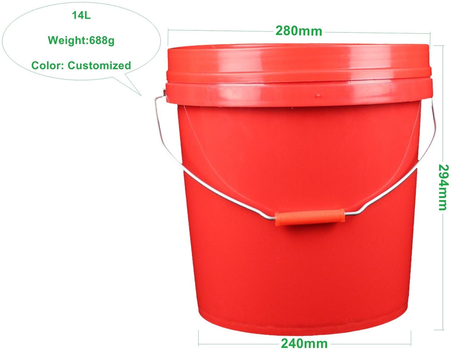 White14 Liter Food Grade Beer Plastic Bucket With Lid