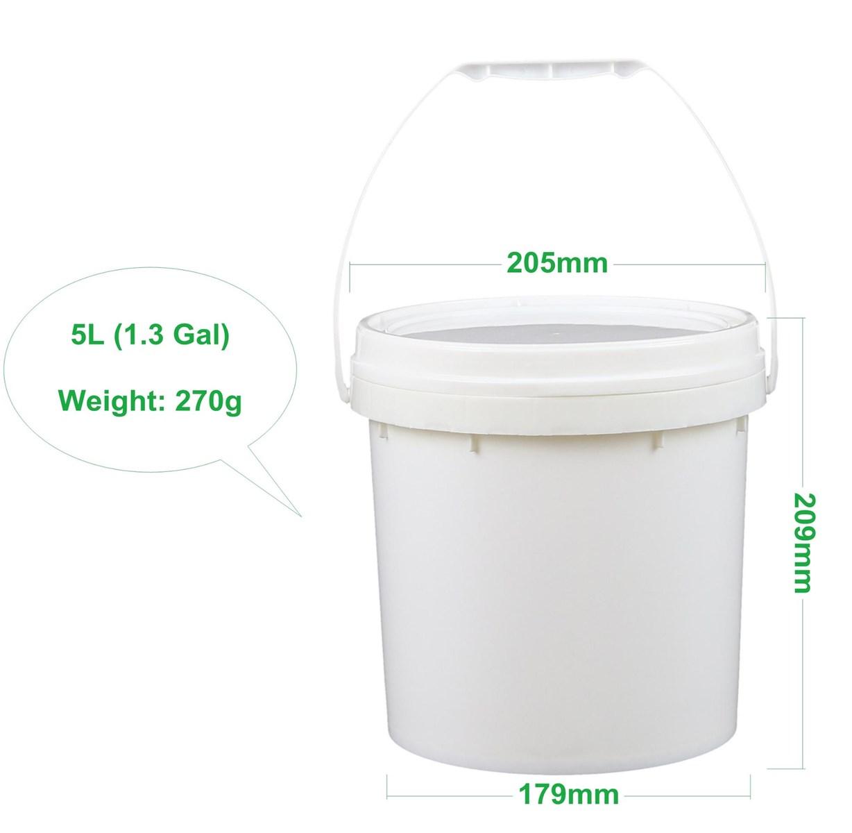 Wholesale Food Grade 5L Ice Cream Paint Plastic Pail With Lid
