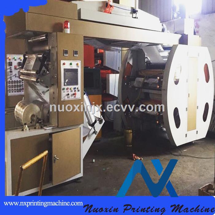 4 colour plastic bag flexographic printing machine