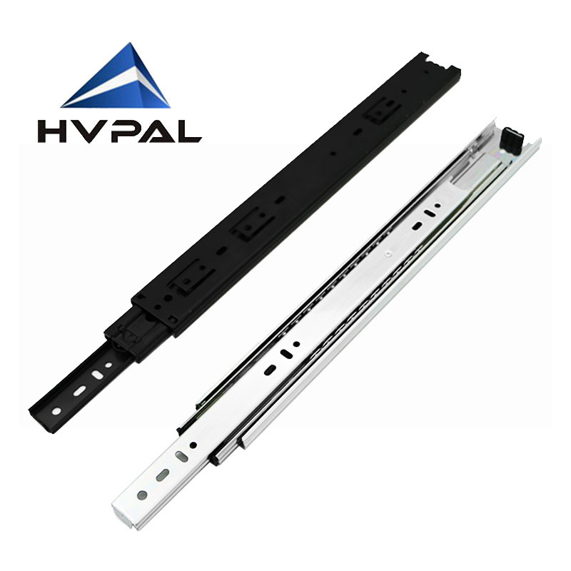 45mm width 18 inches length furniture kitchen heavy duty cabinet drawer slide 3 folds ball bearing cabinet drawer slide