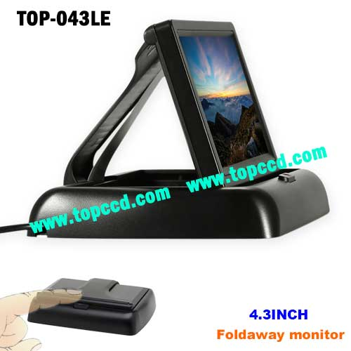 43 Inch Car rear view reversing Popup TFT LCD Monitor from Topccd TOP043LE